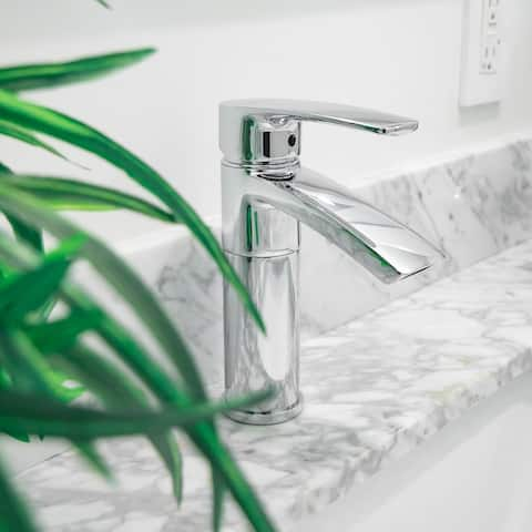 """Ariana 7"""" Single Hole Bathroom Sink Faucet with Swivel Spout"""