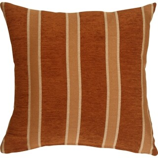 Pillow Décor - Traditional Stripes in Rust 19x19 Decorative Pillow