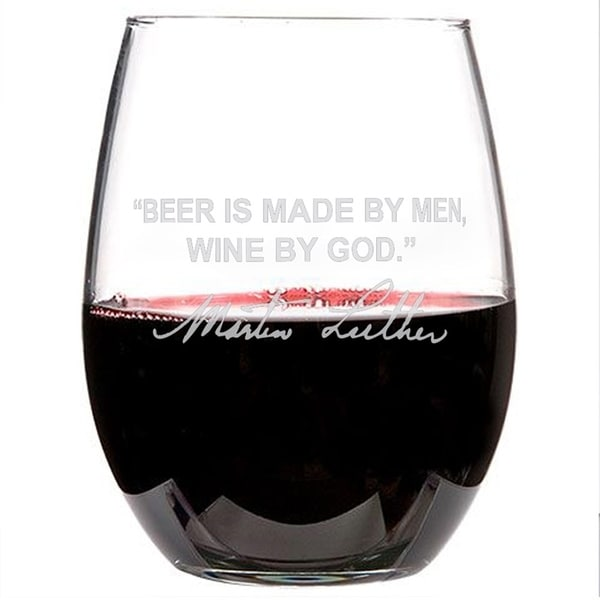 Famous Wine Sayings Personalized Etched Wine Glasses Martin Luther 2 Glasses