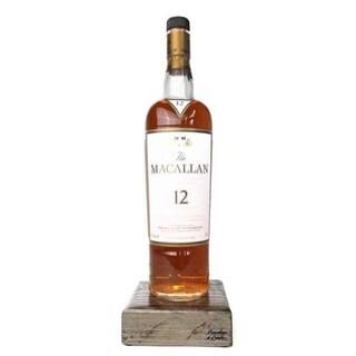 Reclaimed Single Malt Scotch Bottle Liquid Desk Lamp - Macallan