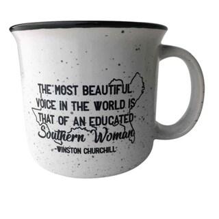 Southern Sayings Campfire Ceramic Coffee Mug - Educated Southern Woman