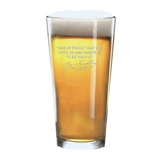 Famous Beer Quotes Personalized Beer Pint Glasses - Benjamin Franklin (2 glasses)