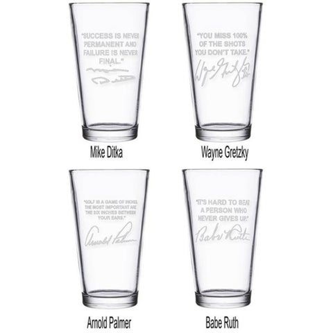 Sports Quotes Personalized Beer Glasses - 4 Top Selling