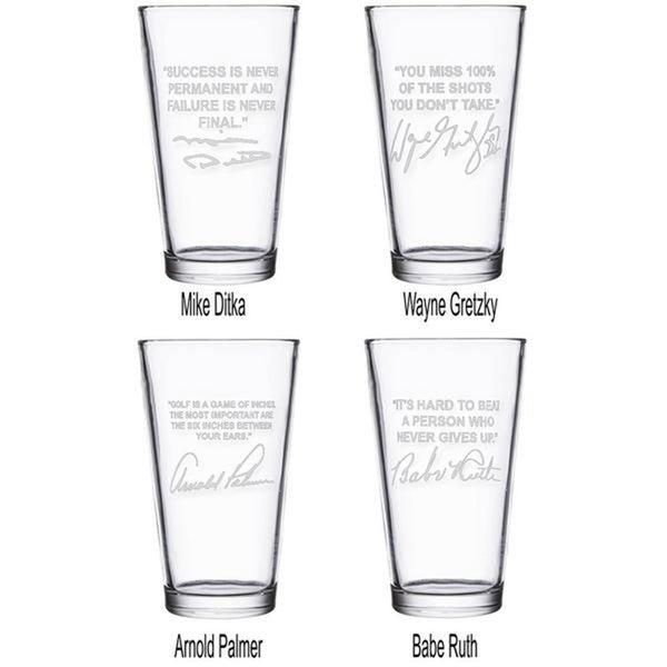 87ba7d2d34d5b Sports Quotes Personalized Beer Glasses - 4 Top Selling