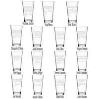 Sports Quotes Personalized Beer Glasses - All 15 Quotes