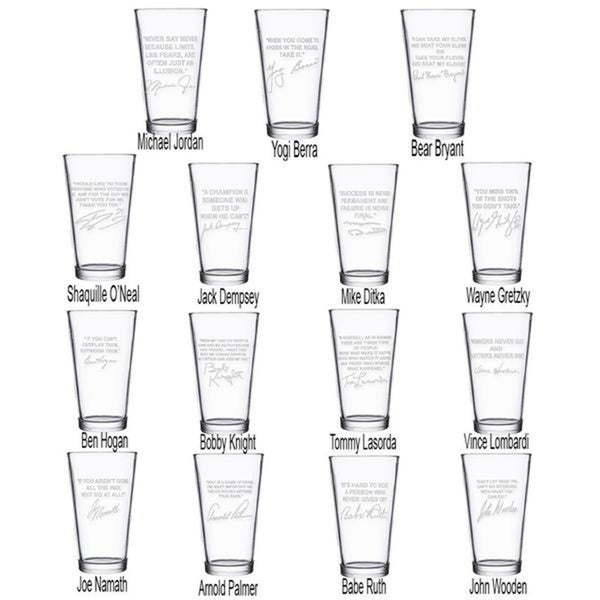 Sports Quotes Personalized Beer Glasses All 15 Quotes