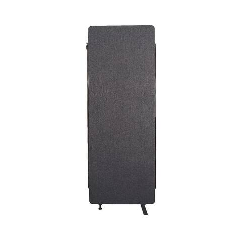 Luxor Reclaim Office, Classroom Wall Partition Freestanding Acoustic Room Divider, Expansion Panel- Slate Gray