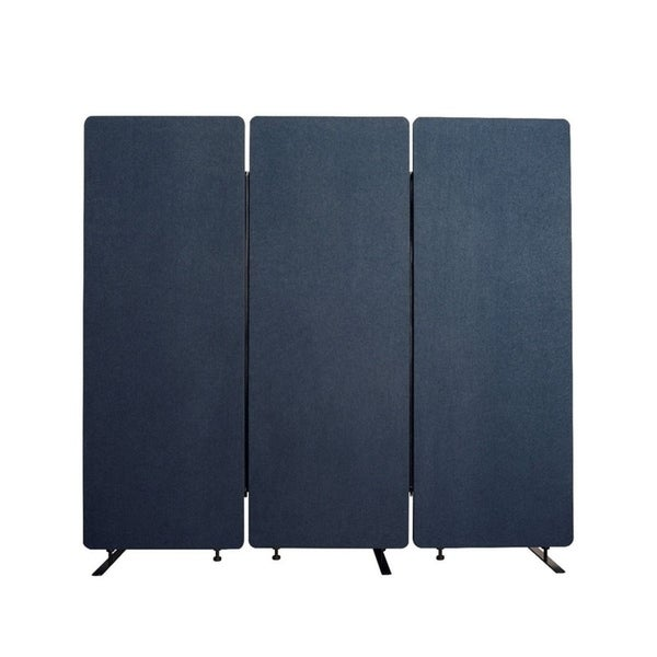 Luxor Reclaim Office, Classroom Wall Partition Freestanding Acoustic Room Divider - 3 Pack, Starlight Blue