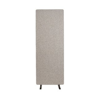 Luxor Reclaim Acoustic Fabric Single Panel Room Divider In Misty Gray