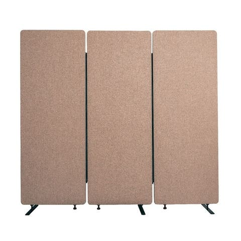 RECLAIM Acoustic Room Dividers - 3 Pack in Desert Sand- RCLM7266ZDS