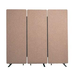 Luxor Reclaim Acoustic Fabric Room Divider In Desert Sand - 3 Pack