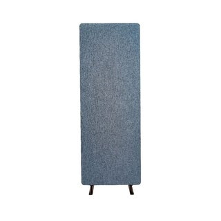 Luxor Reclaim Acoustic Fabric Single Panel Room Divider In Pacific Blue