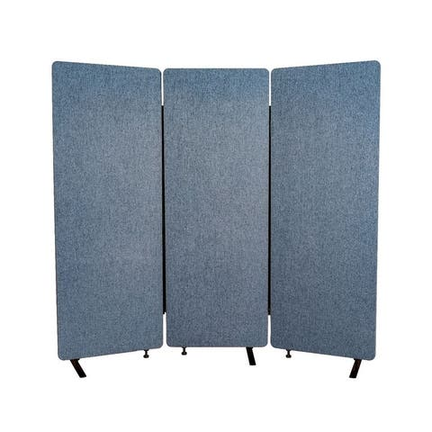 RECLAIM Acoustic Room Dividers - 3 Pack in Pacific Blue- RCLM7266ZPB