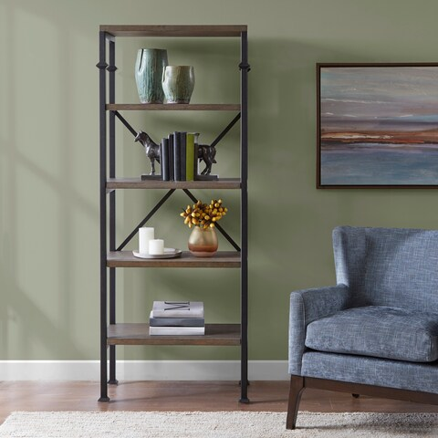 Madison Park Brewer Grey Bookcase