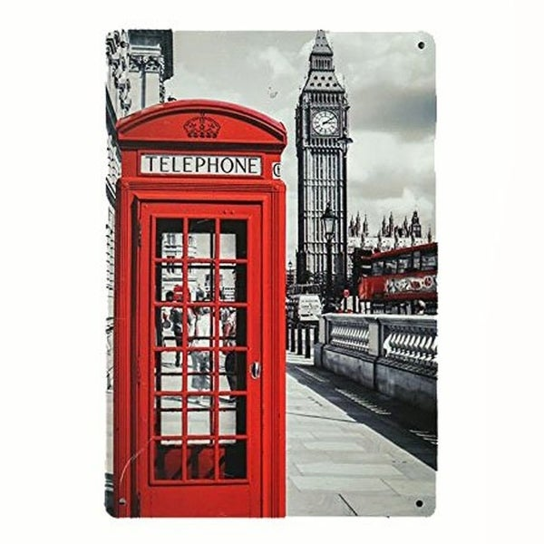 1105d5dd5bd Shop Vintage London Phone Booth Metal Sign 8