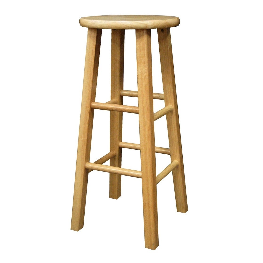 Tremendous Winsome Dakota 29 Solid Wood Bar Stool With Square Legs Natural Finish Pabps2019 Chair Design Images Pabps2019Com