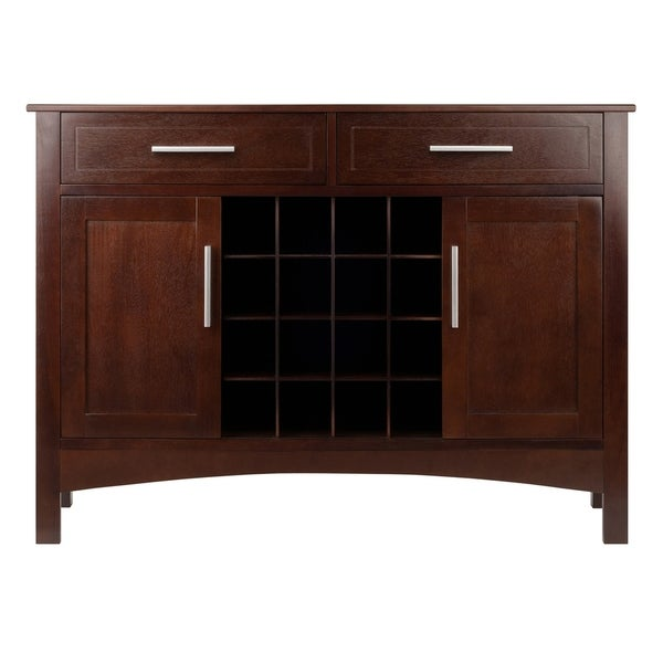 Winsome Gordon Solid and Composite Wood Buffet Cabinet ...