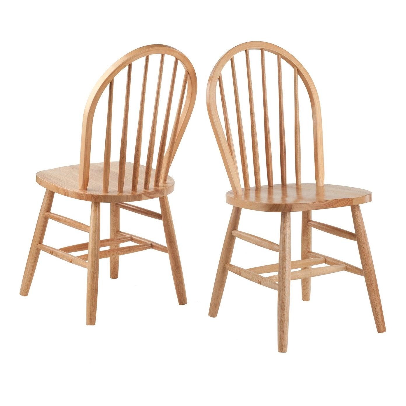Windsor Chair 2 Pc Set Rta Natural