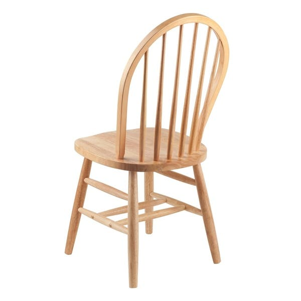 Winsome Solid Wood Windsor Chair In Natural Finish Rta