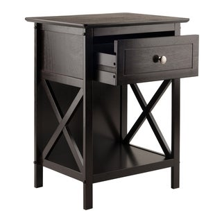 Winsome Xylia Solid and Composite Wood Accent Table in Coffee Finish