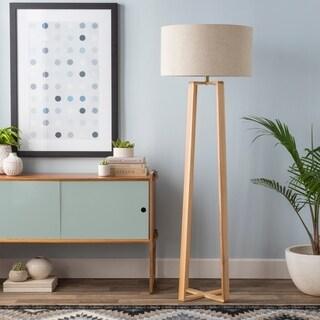 Skylar Natural Wood Modern 63-inch Floor Lamp