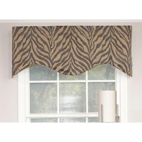 RLF Home Wild Streaks Cornice Window Valance - Stone