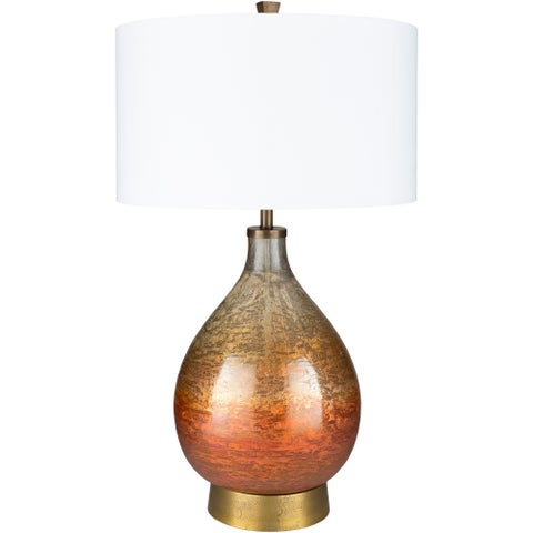 Ludoviko Rust Lacquered Glass Table Lamp - N/A