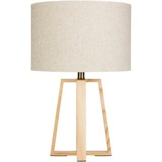 Skylar Natural Wood Modern 21.5-inch Table Lamp - N/A