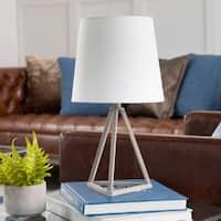 Kelleigh Grey Farmhouse Metal Tripod Table Lamp