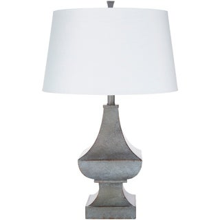 Natali Distressed Grey Farmhouse 27.5-inch Table Lamp