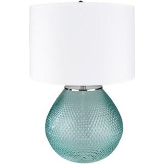 Permelia Sky Blue Hobnail Glass Table Lamp