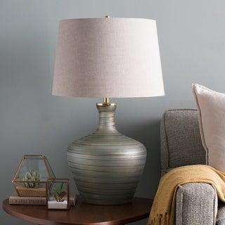 Mariya Emerald & Aqua Antiqued Glass Table Lamp