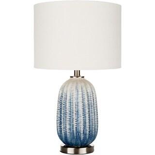 Chiarina Navy/ White Ceramic Table Lamp
