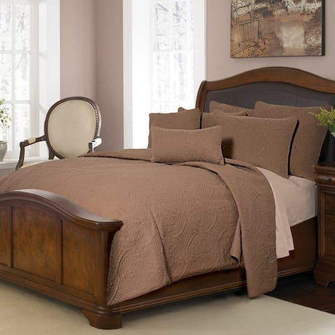 Donna Sharp Ana Mocha Solid Cotton Quilt Set