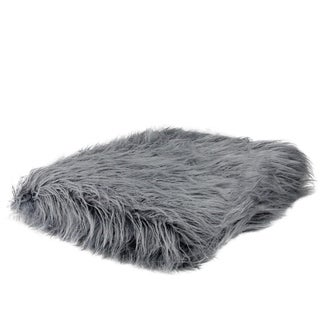 "Extravagant Slate Blue Faux Fur Super Soft Decorative Throw Blanket 50""x60"" - Full"