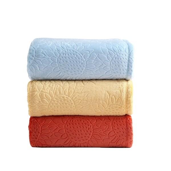 Shop Asher Home Sylvia Sunflower Plush Throw Blanket Ships To Interesting Plush Throw Blanket Canada