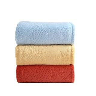 Asher Home Sylvia Sunflower Plush Throw Blanket