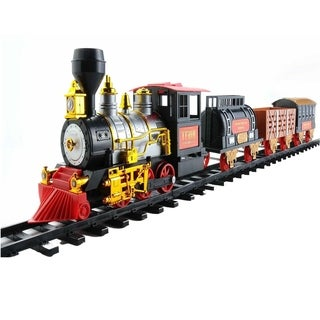 20-Piece Battery Operated Lighted Animated Classics Train Set with Sound - Black