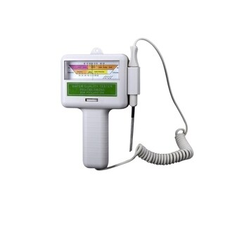 Battery Operated Chlorine and PH Water Quality Tester for Pool and Spa - White