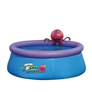 "69"" x 24.5"" Inflatable Spraying Octopus Above Ground Swimming Pool"