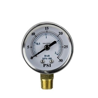 """2.75"""" (50mm) Side Mount Stainless Steal Pressure Gauge 0-30 PSI"""