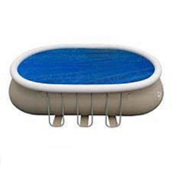 Shop 8.5\' x 16.5\' Blue Oval Floating Solar Cover for Steel Frame ...