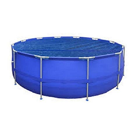 17' Round Blue Floating Solar Cover for Steel Frame Swimming Pool
