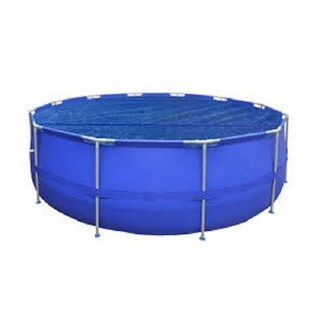 14' Round Floating Blue Solar Cover Blanket for Steel Frame Swimming Pool