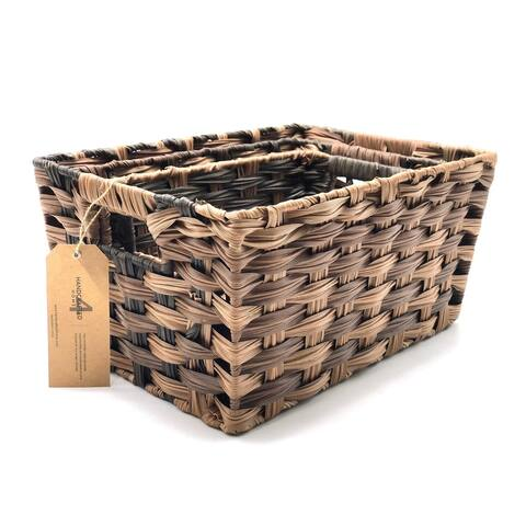 The Curated Nomad Ray Handmade Faux Rattan Nesting Baskets (Set of 3)
