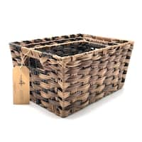 3-Piece Faux Rattan Nesting Basket Set by Handcrafted 4 Home