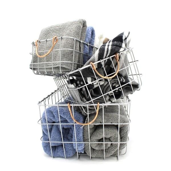 Handmade Metal Wire Nesting Basket, Set of 3
