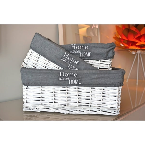 3-Piece Wicker Nesting Basket Set by Handcrafted 4 Home