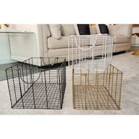 3-Piece Metal Multi Color Nesting Basket Set by Handcrafted 4 Home