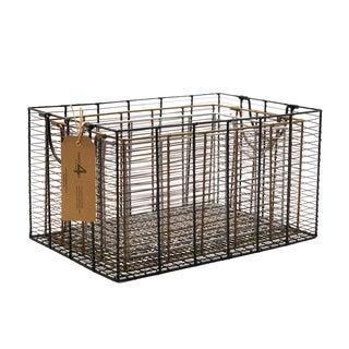 Handmade Metal Multicolor Nesting Basket, Set of 3